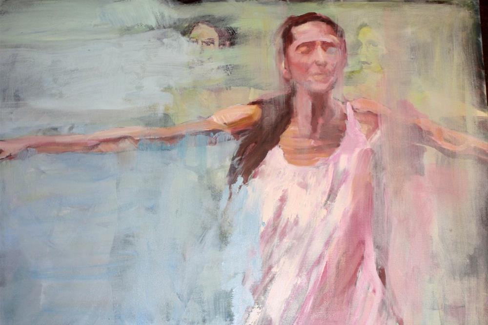 """""""Pina Bausch - Tanz"""" original fine art by Mila Plaickner"""