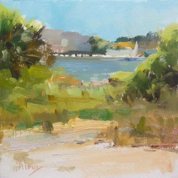 """Opening to the Bay"" original fine art by Randall Cogburn"