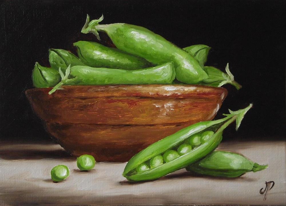 """""""Garden Peas"""" original fine art by Jane Palmer"""