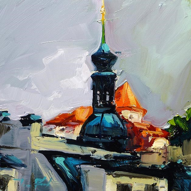 """the roofs"" original fine art by Jurij Frey"