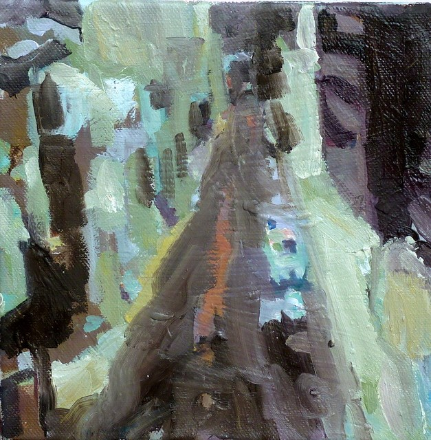 """in den Straßen ... / in the streets ..."" original fine art by Mila Plaickner"