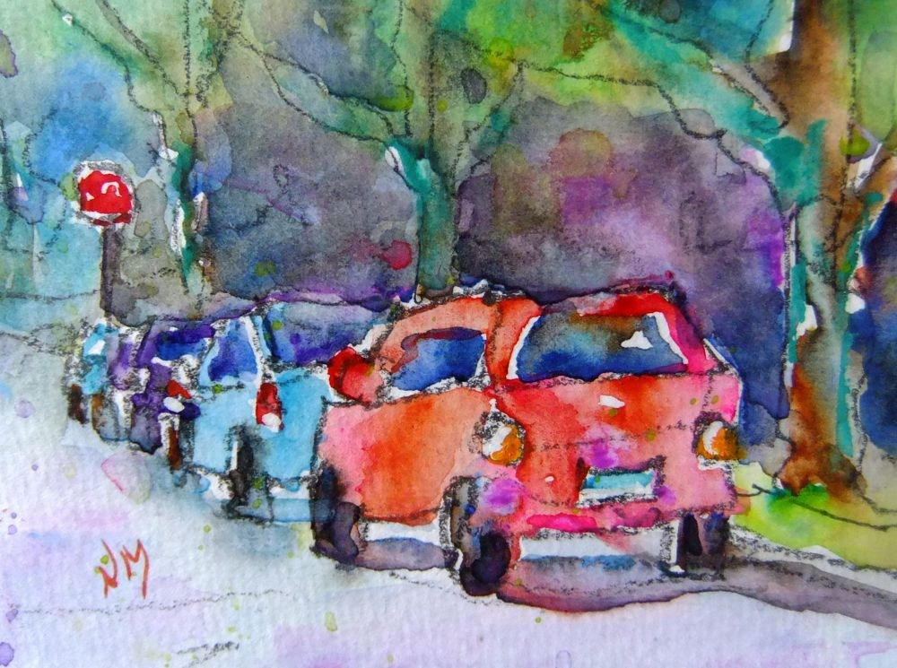 """side street"" original fine art by Nora MacPhail"
