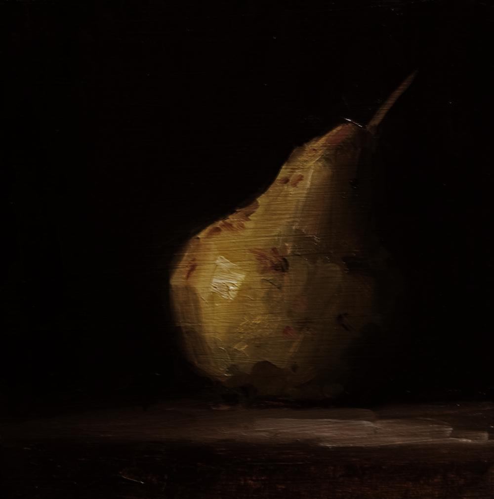 """Pear No. 4"" original fine art by Neil Carroll"