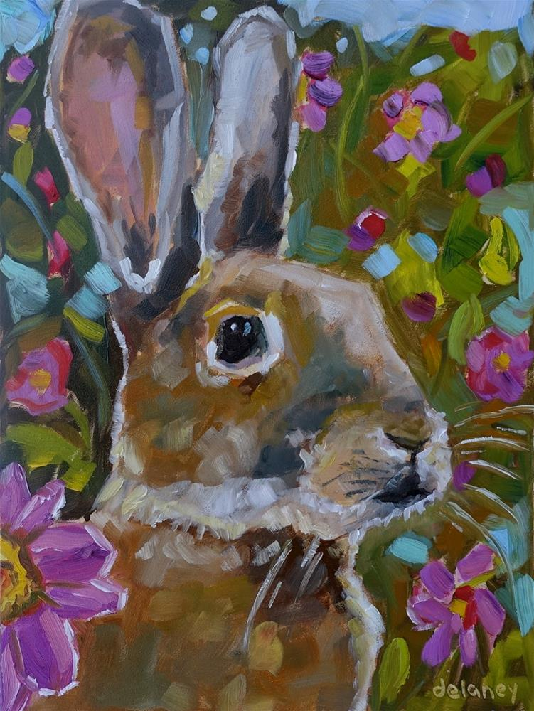 """GARDEN SUPERVISER"" original fine art by Jean Delaney"