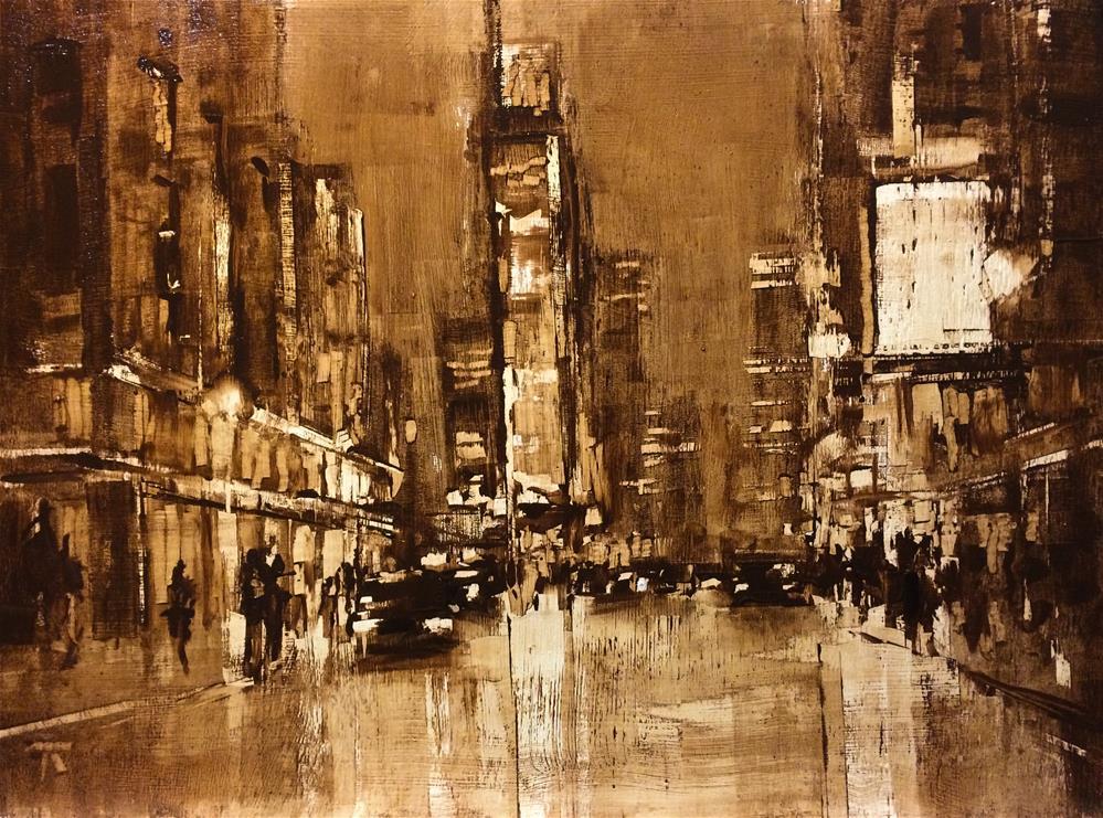 """Street composition 8"" original fine art by Thomas Ruckstuhl"