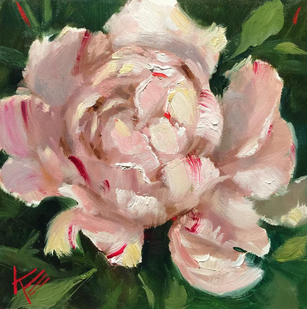 """The Peony"" original fine art by Krista Eaton"
