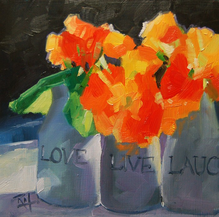 """No 523 Love Live Laugh"" original fine art by Robin J Mitchell"