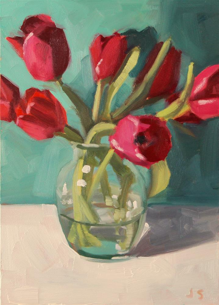 """#162 Tulip Bouquet"" original fine art by Jamie Stevens"