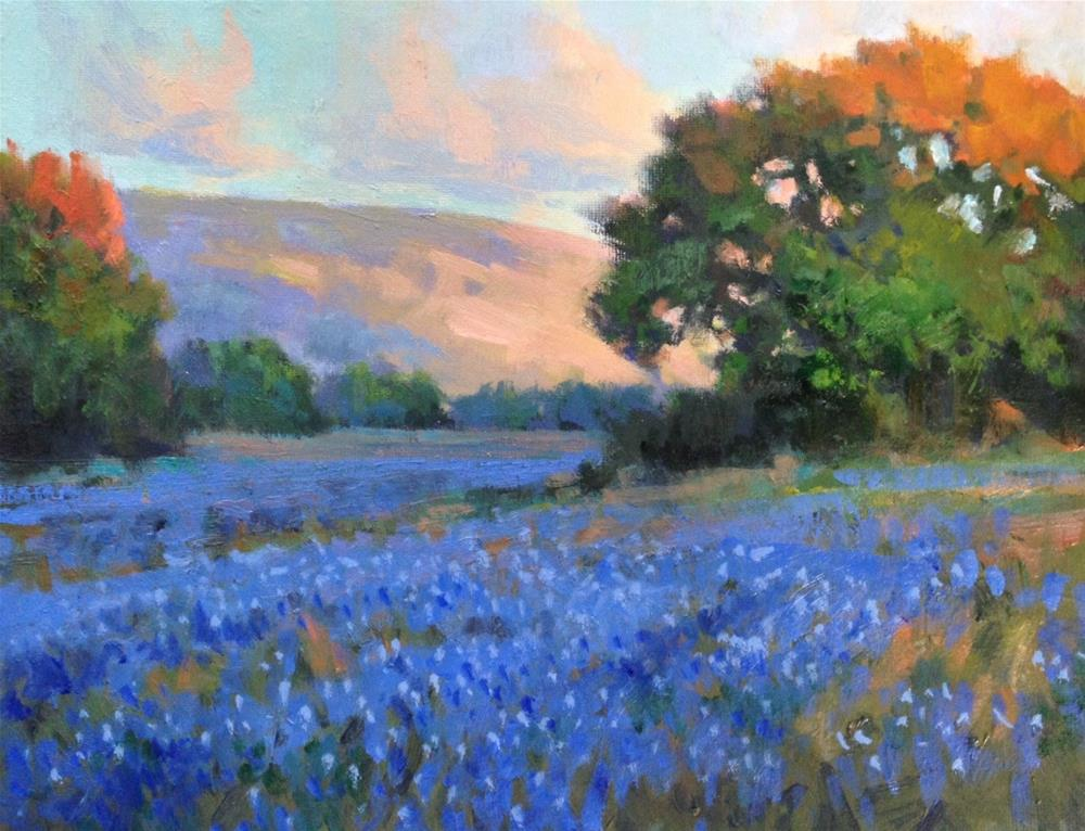 """Evening Blue"" original fine art by David Forks"