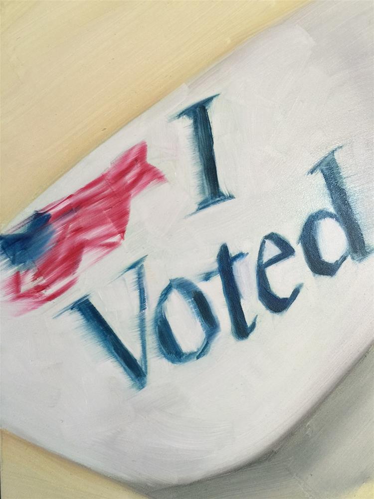 """""""272 I Voted"""" original fine art by Jenny Doh"""