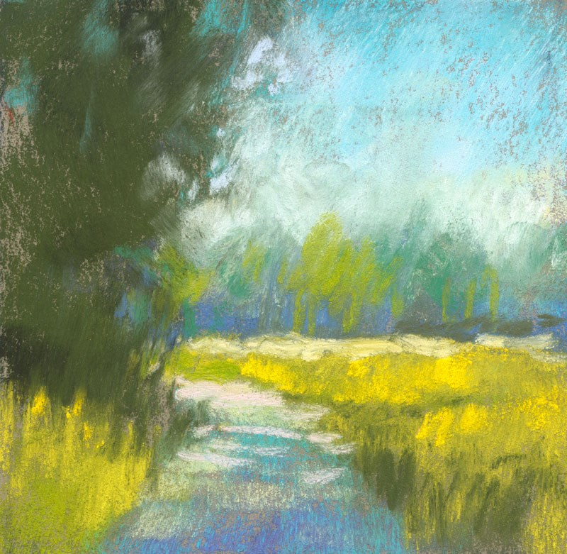"""Land Study 1"" original fine art by Rita Kirkman"