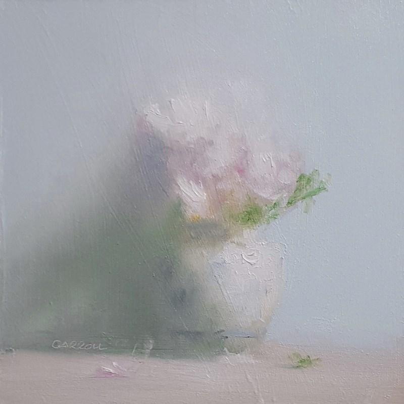 """Pink Flowers"" original fine art by Neil Carroll"