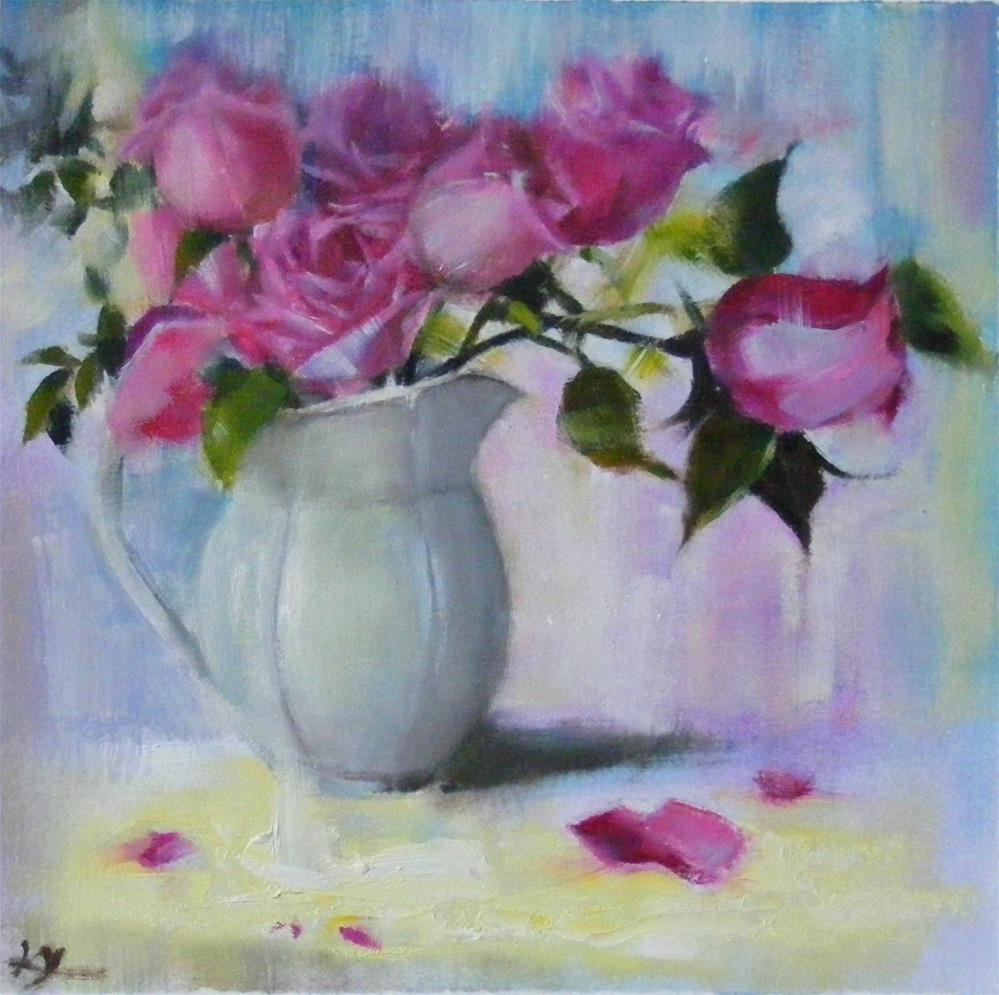 """Rose day"" original fine art by Celine K.  Yong"