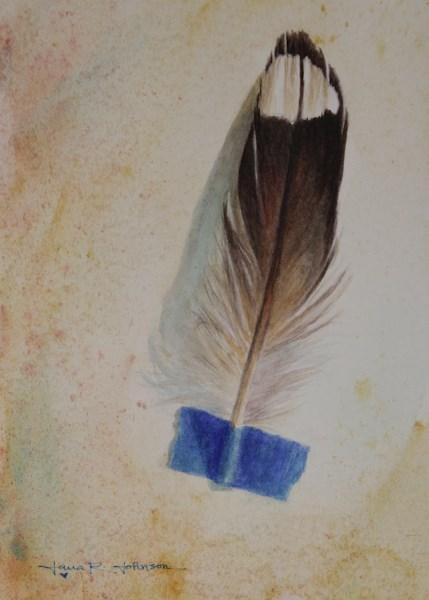"""Feather 6"" original fine art by Jana Johnson"