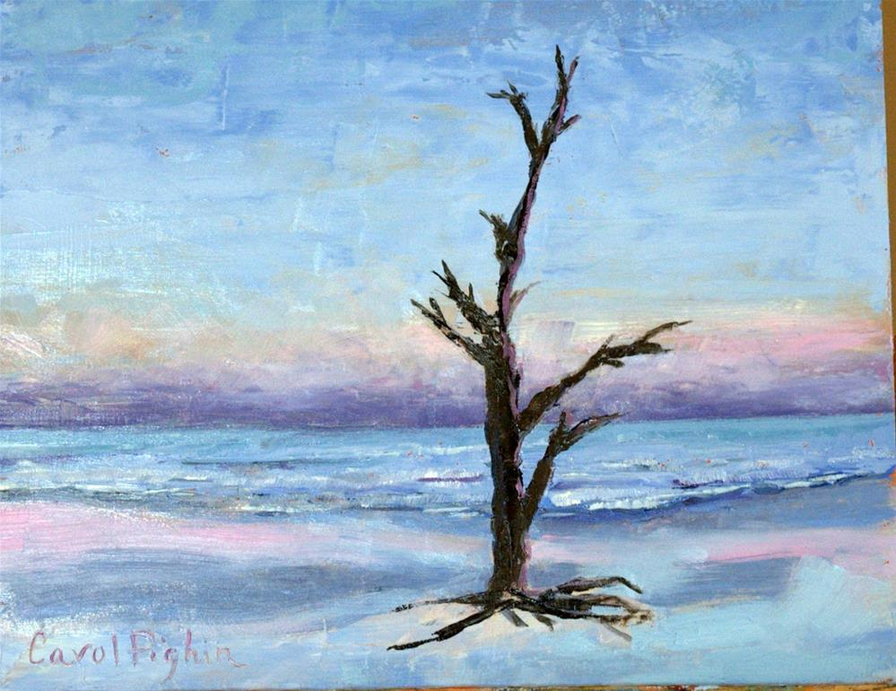 """The Lone Pine at Sunset"" original fine art by Carol Pighin"