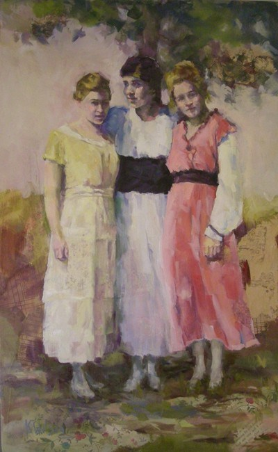 """Three Dresses"" original fine art by Katie Wilson"
