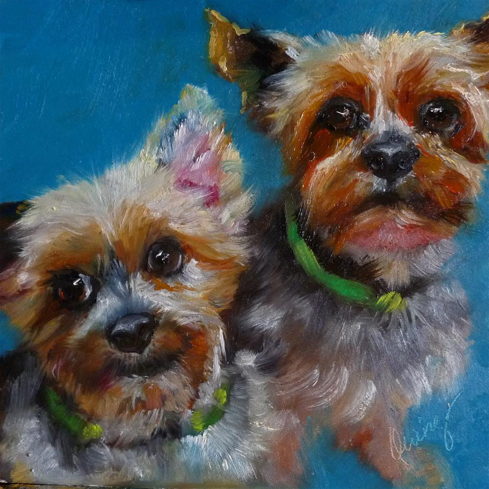 """KD's Pups"" original fine art by Sharman Owings"