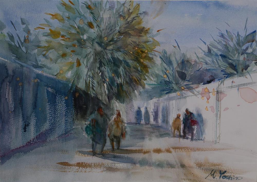 """""""Al Muwaiji, Al Ain"""" original fine art by Midori Yoshino"""