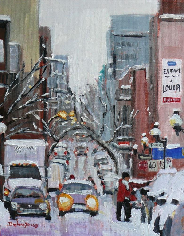 """691 Montreal Hiver, Before the Blizzard"" original fine art by Darlene Young"