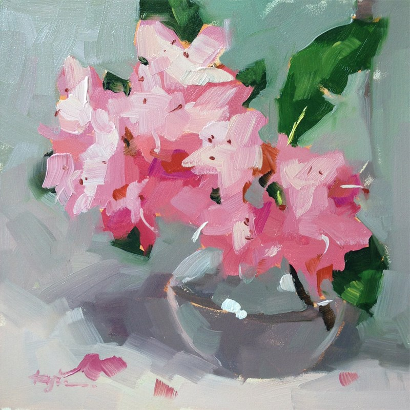 """Rhododendron"" original fine art by Katia Kyte"