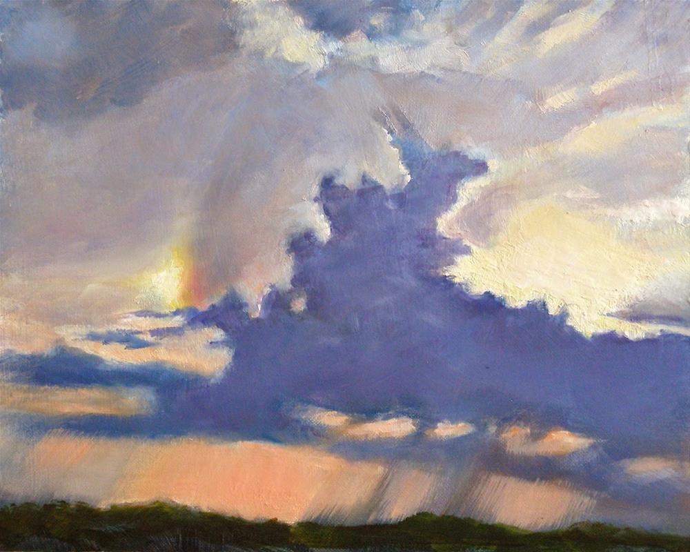 """Almost a Rainbow, 10x8 Oil Painting on Canvas"" original fine art by Carmen Beecher"