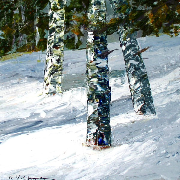 """Winter Trio"" original fine art by Anna Vreman"