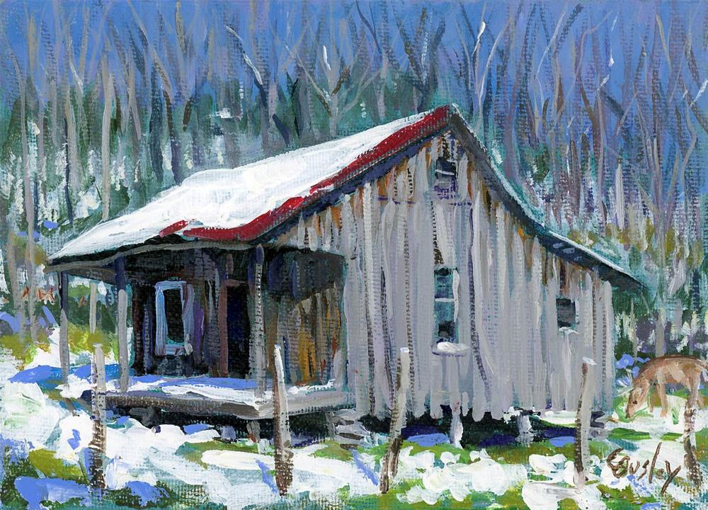 """Little Old House"" original fine art by Chris Ousley"