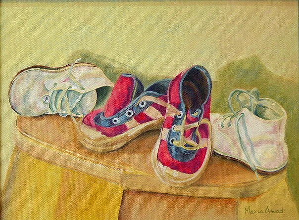 """Baby Shoes"" original fine art by Maria Levandowski"