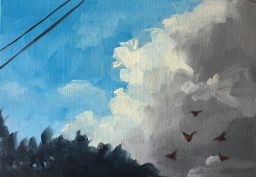 """Butterfly Migration"" original fine art by Van DeGoede"