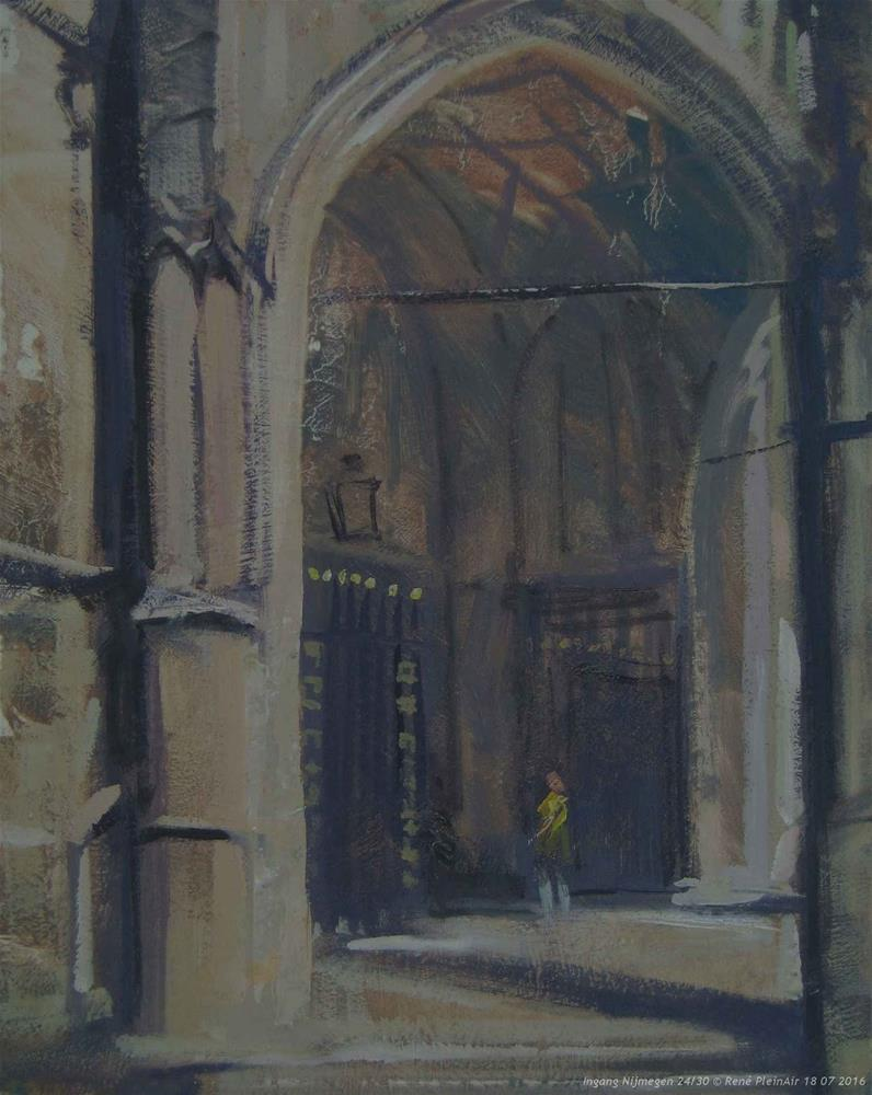 """Entrance Nijmegen The Netherlands"" original fine art by René PleinAir"