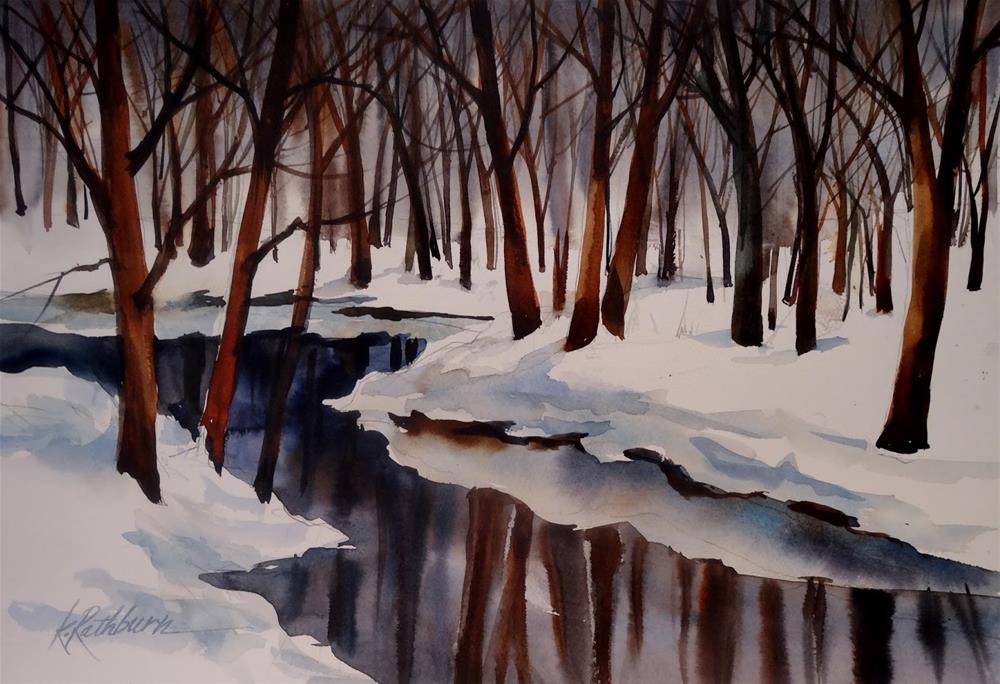 """Reflections of Winter"" original fine art by Kathy Los-Rathburn"