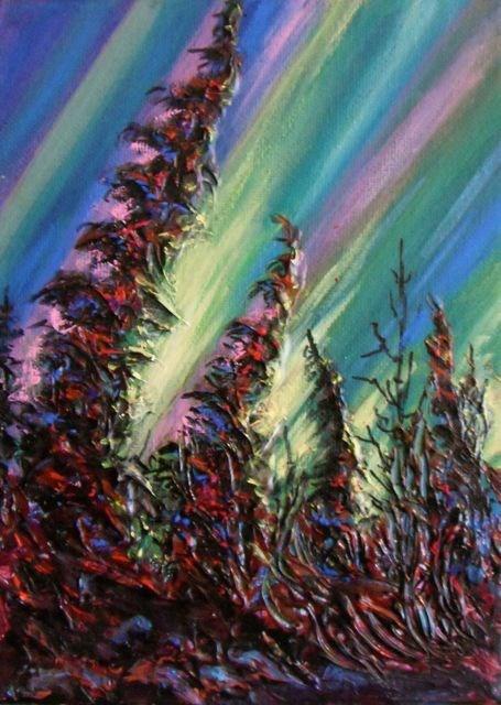 """Aurora Borealis"" original fine art by Jackie Irvine"