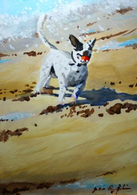 """""""Feeling Groovy"""" original fine art by JoAnne Perez Robinson"""