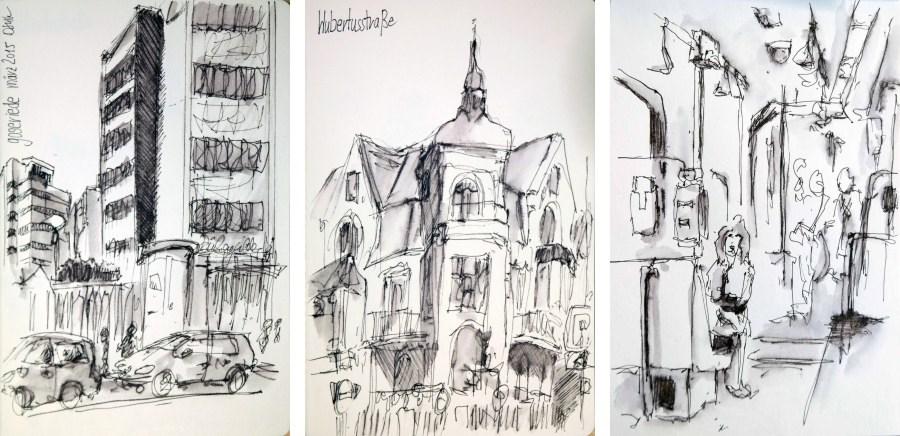 """""""1298 Sunday Sketches 5"""" original fine art by Dietmar Stiller"""