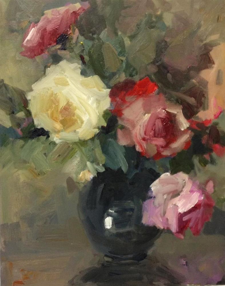 """Dancing roses"" original fine art by Parastoo Ganjei"