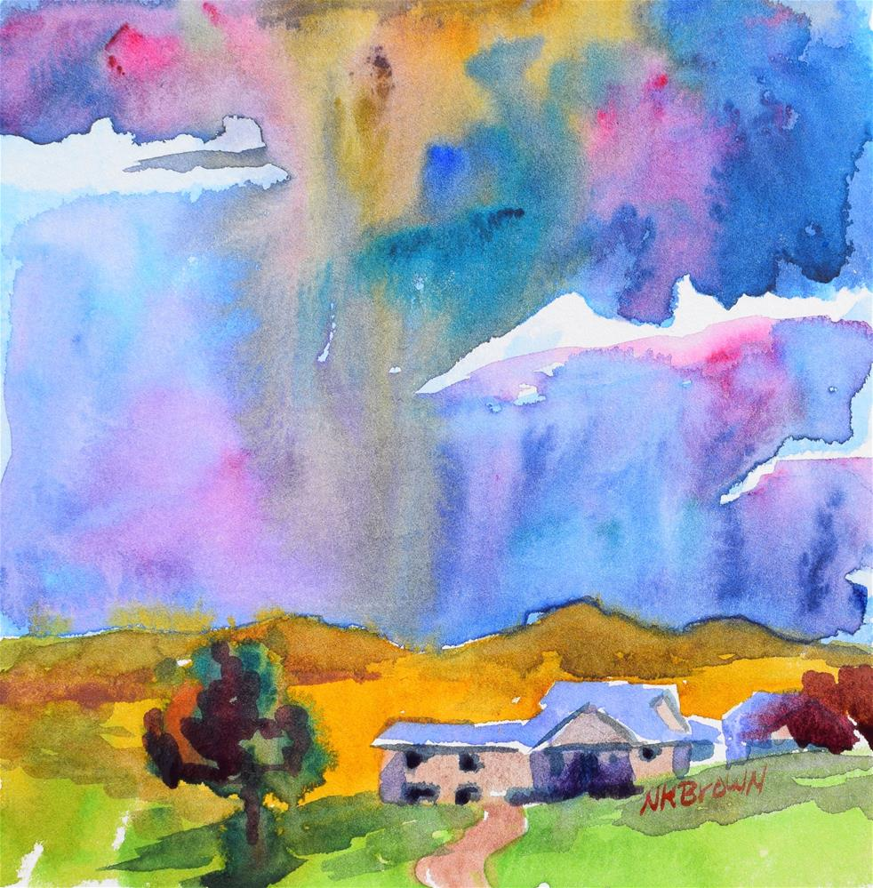 """Fall Storm"" original fine art by Nancy Brown"