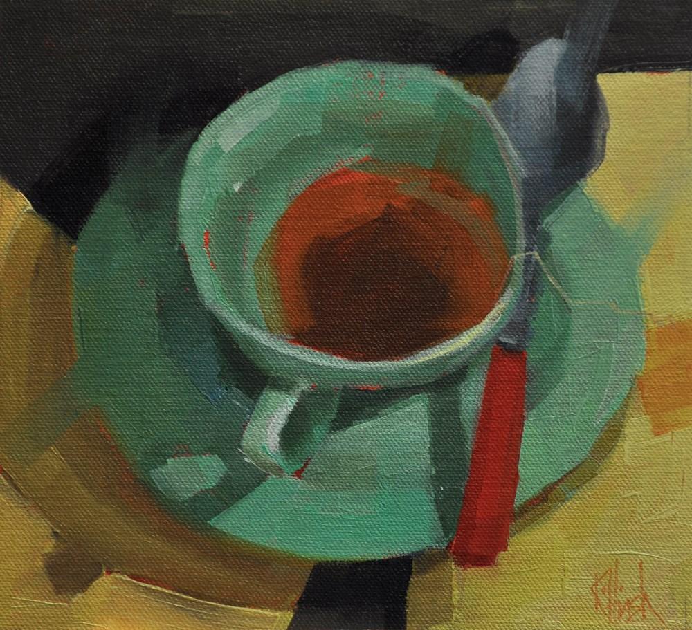 """Patt's Cup 3"" original fine art by kathy hirsh"
