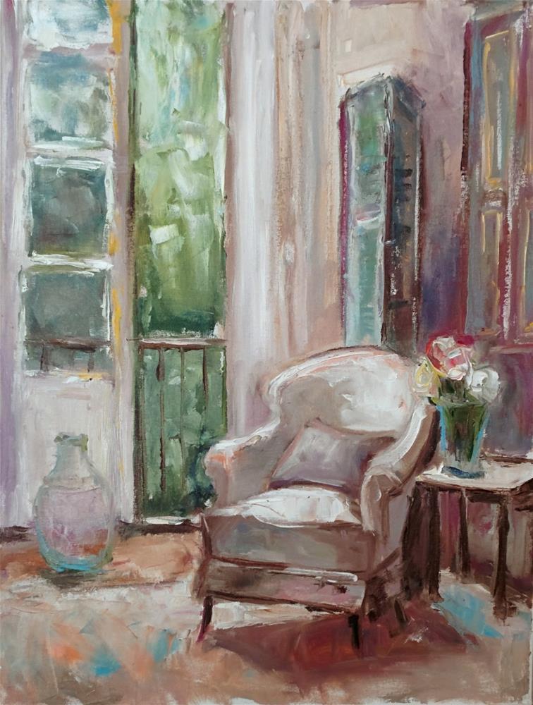 """""""Room in White"""" original fine art by pepa sand"""