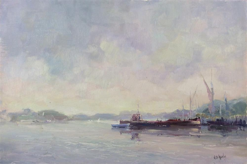 """Morning on The Orwell"" original fine art by John Shave"