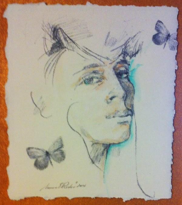 """""""2 BUTTERFLIES - 10 x 8 figurative mixed media by Susan Roden"""" original fine art by Susan Roden"""