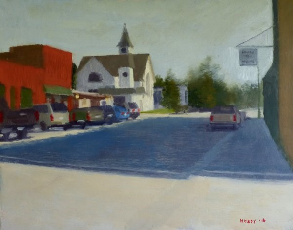 """1st St., Deer River"" original fine art by Weston Hobdy"