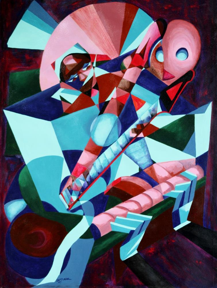"""Musicians"" original fine art by Lendel Holmes"