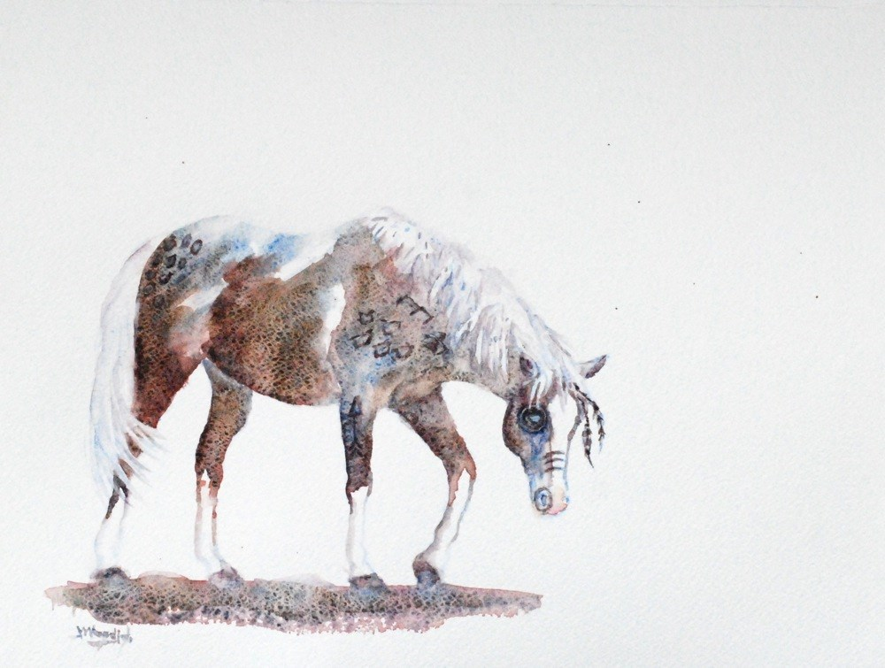 """hunting pony"" original fine art by Vicki Wood"