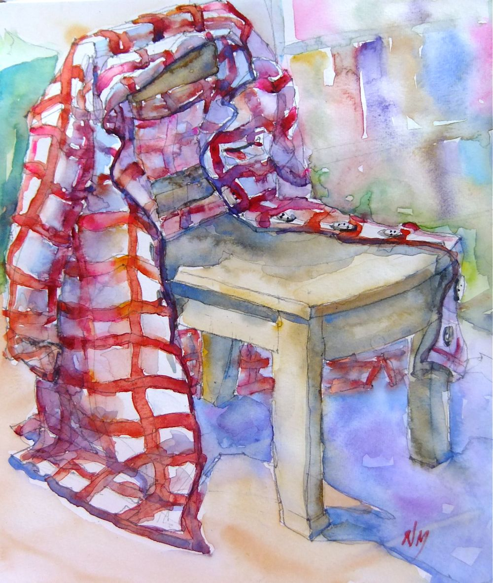 """red stripes"" original fine art by Nora MacPhail"