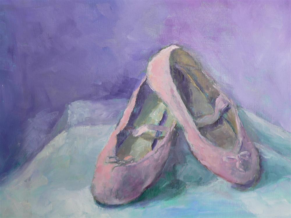 """ballet slippers"" original fine art by Carol Josefiak"