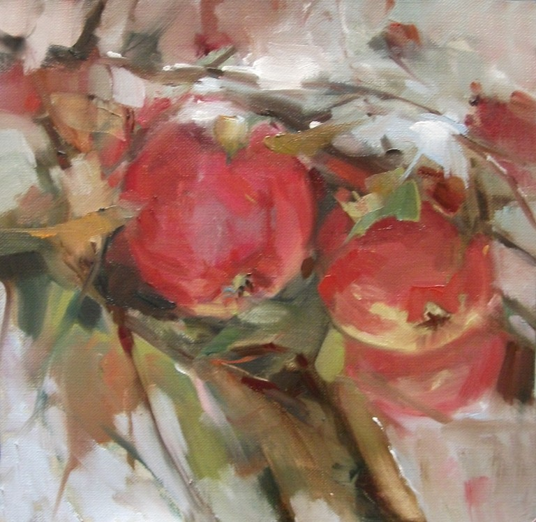 """Cold, But Cozy"" original fine art by Mary Maxam"