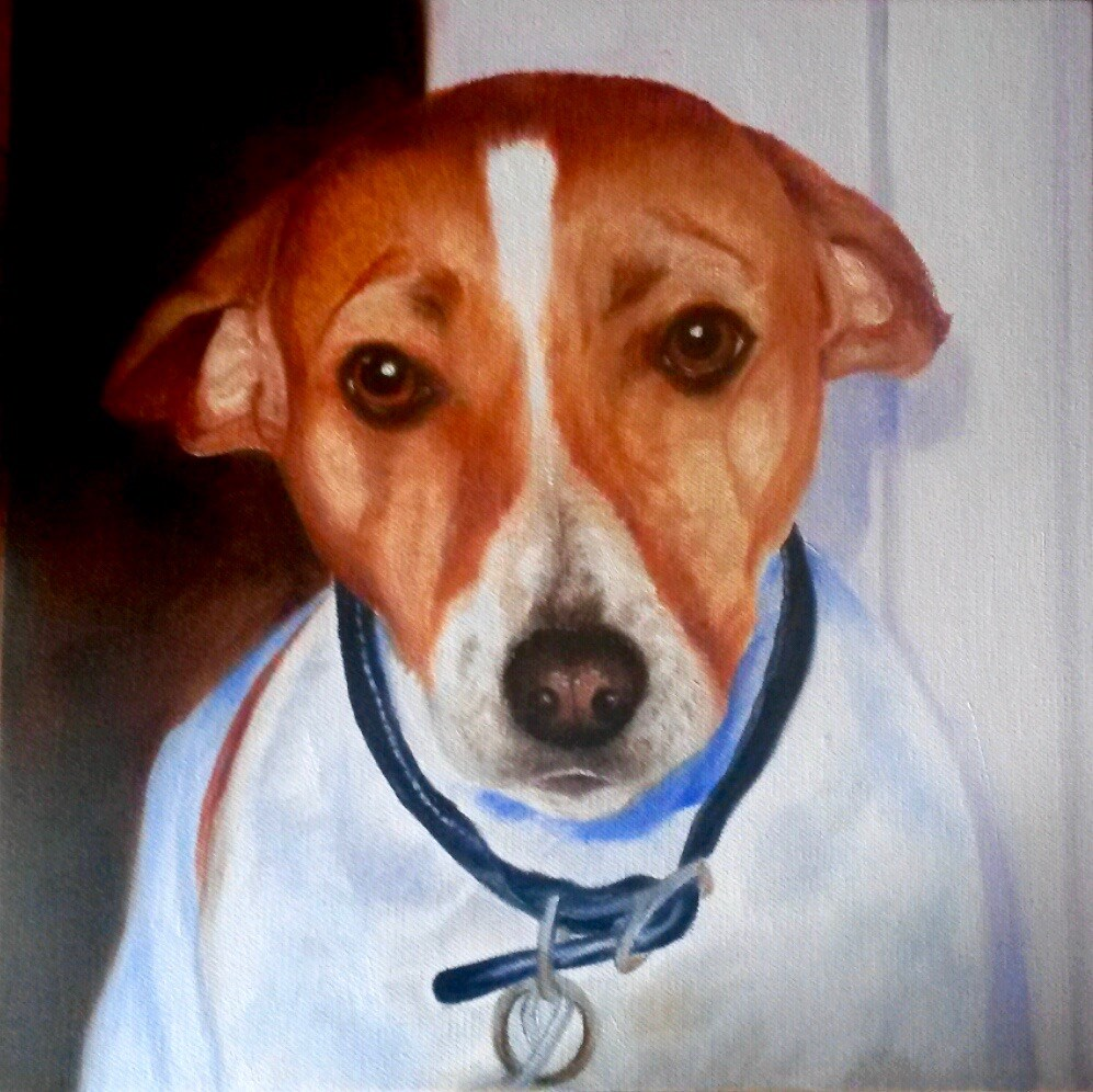 """Henry"" original fine art by Jill Bates"