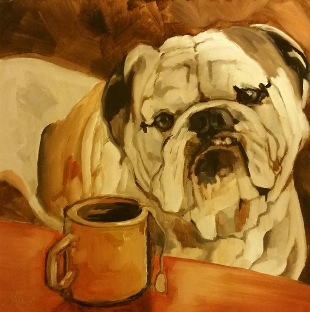 """My Cup of Tea..."" original fine art by Leni Tarleton"