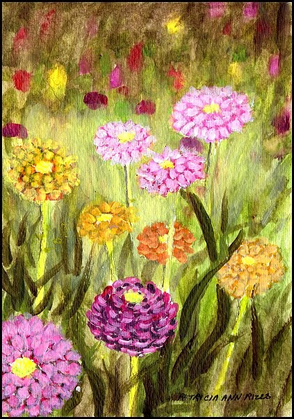 """A Bit of Spring"" original fine art by Patricia Ann Rizzo"