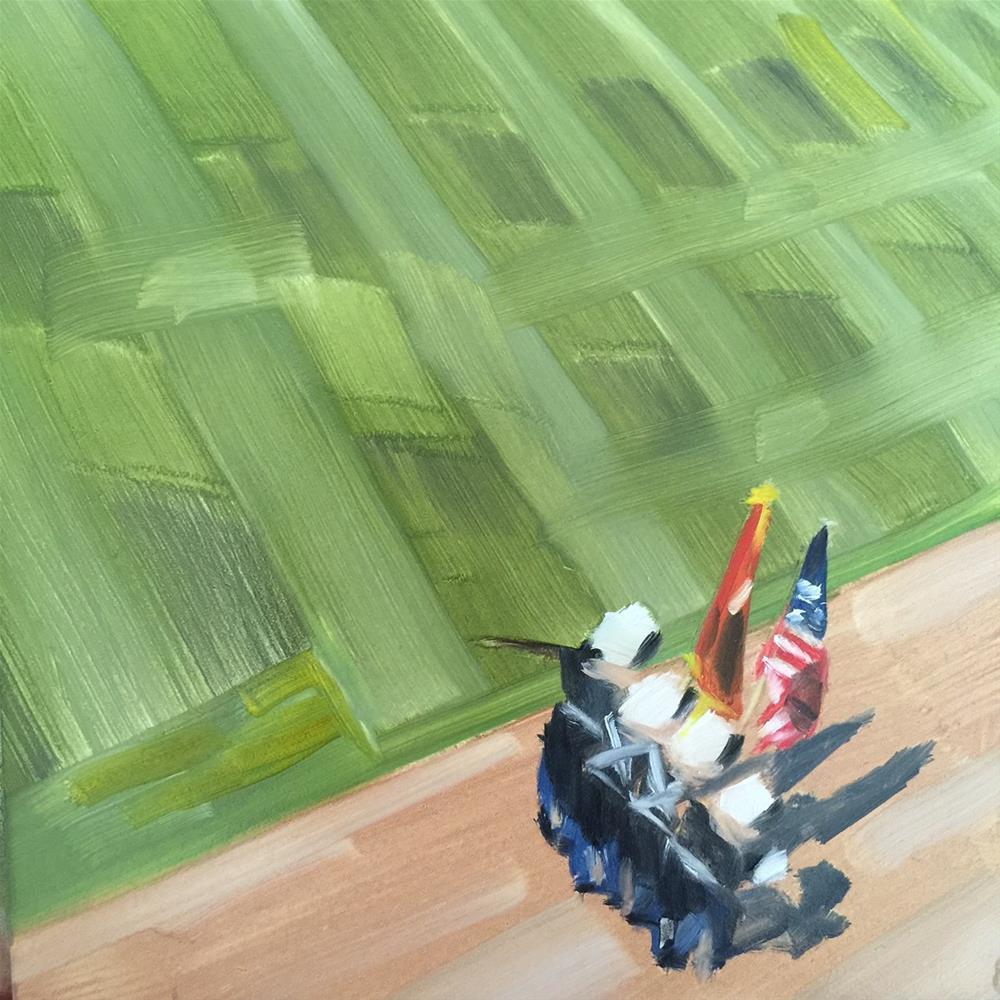 """322 Profound Salute"" original fine art by Jenny Doh"